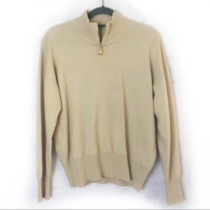 Escada Tan Cashmere Blend Pullover Sweater
